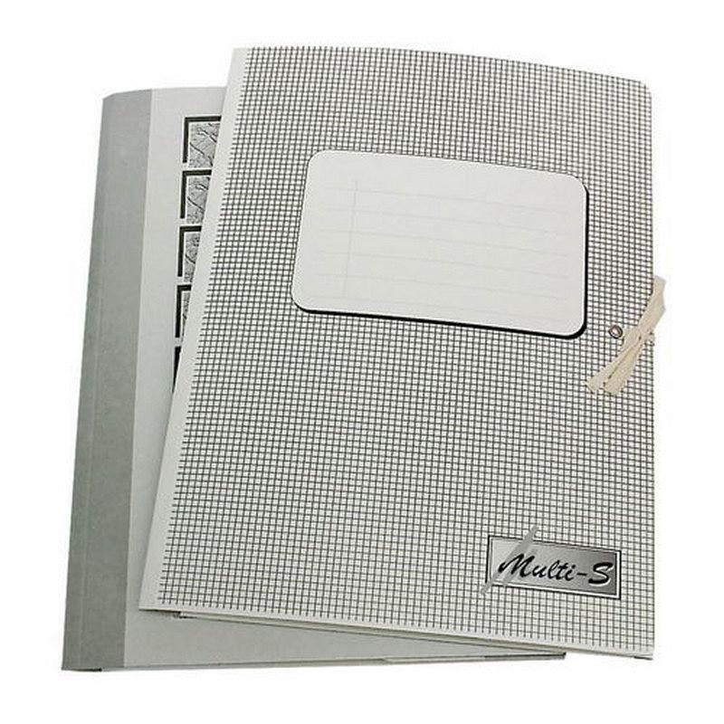 Mape ar saitītēm Multi-S kartona, A4 formāts, pelēka