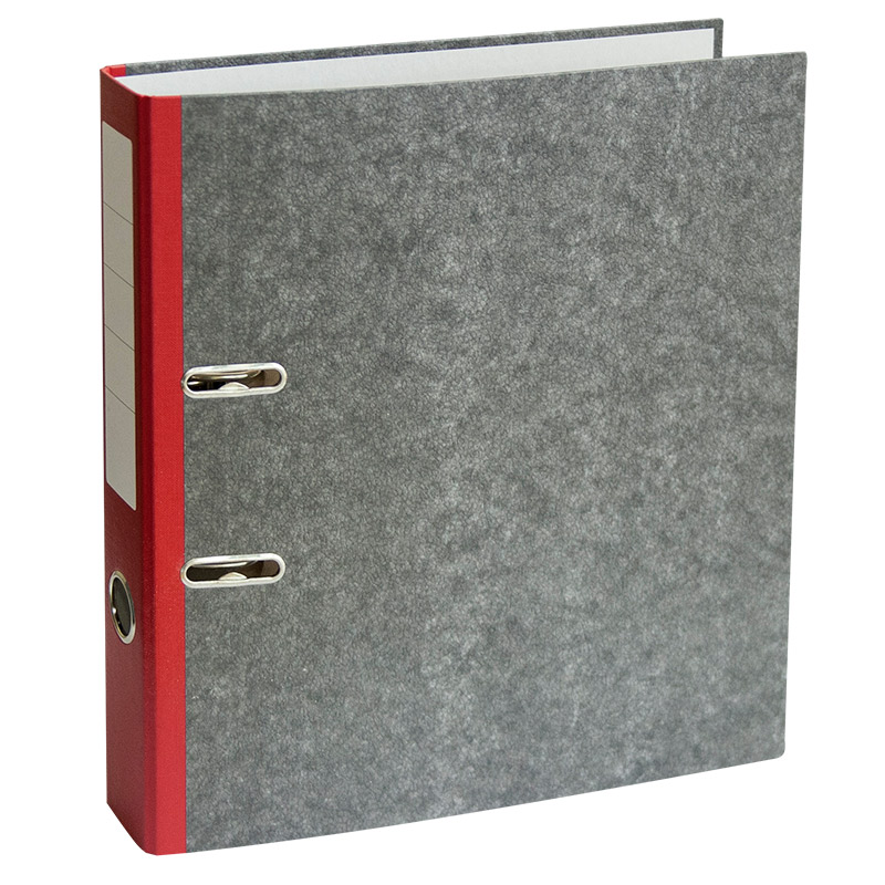 Mape-reģistrs A4 formāts, 50mm, sarkans/marmors