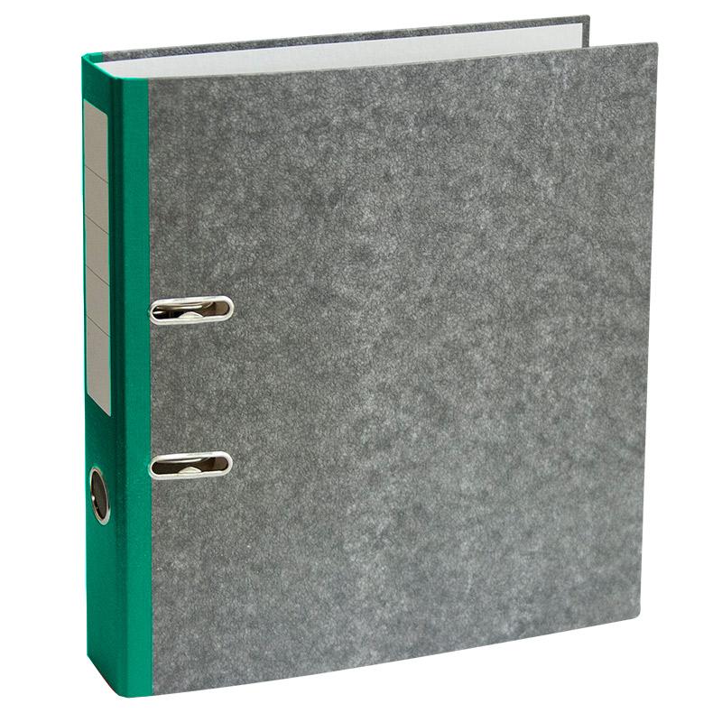 Mape-reģistrs A4 formāts, 50mm, zaļš/marmors
