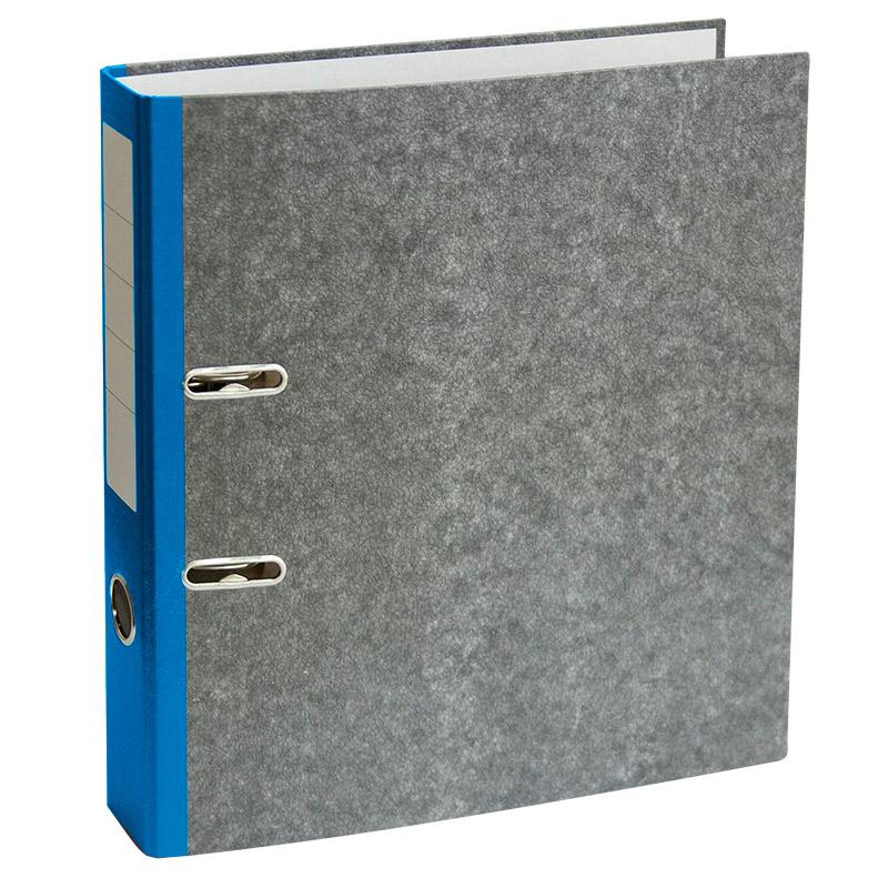 Mape-reģistrs A4 formāts, 50mm, zils/marmors
