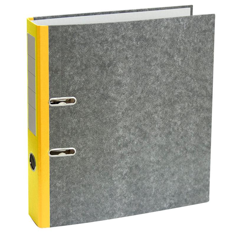 Mape-reģistrs A4 formāts, 50mm, dzeltens/marmors