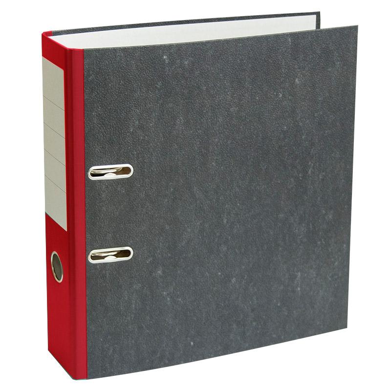Mape-reģistrs A4 formāts, 75mm, sarkana/marmors