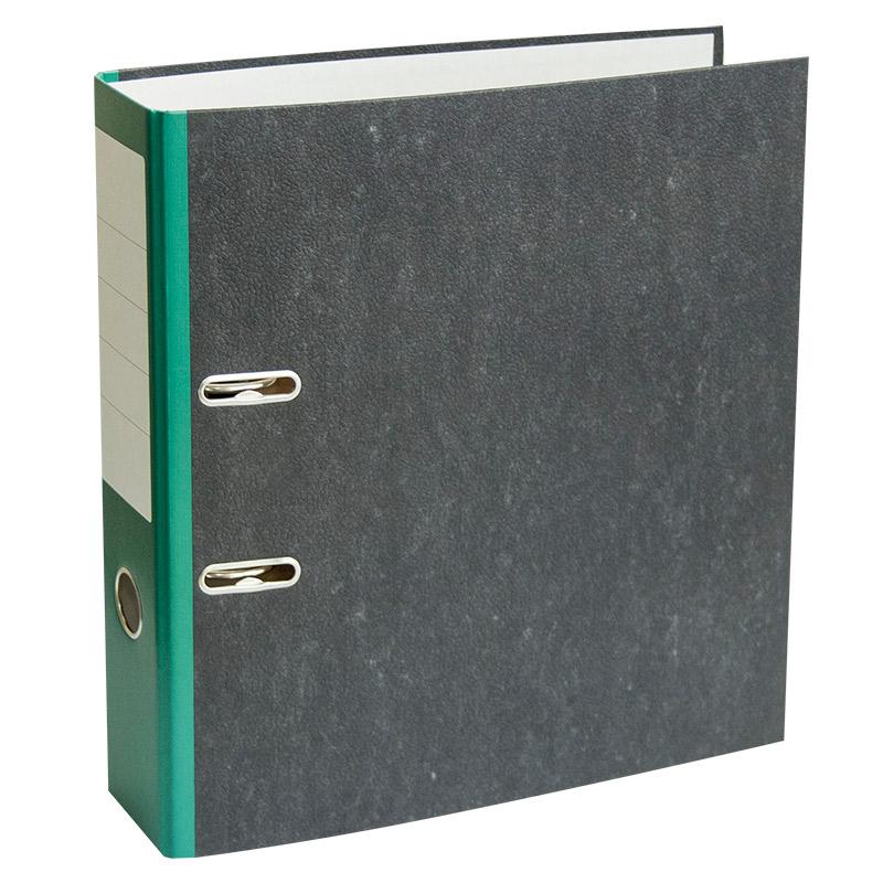 Mape-reģistrs A4 formāts, 75mm, zaļa/marmors