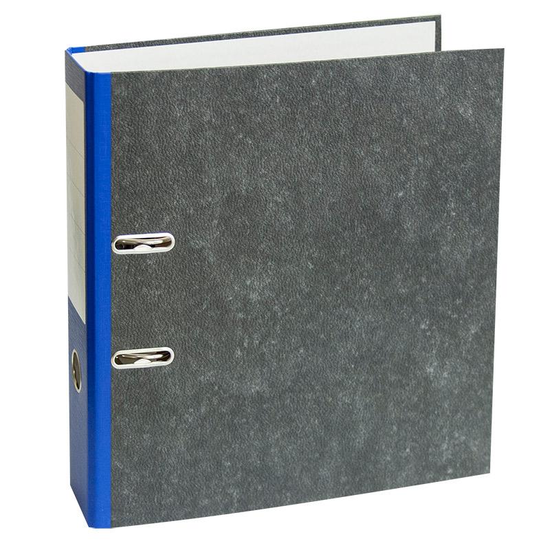 Mape-reģistrs A4 formāts, 75mm, zila/marmors