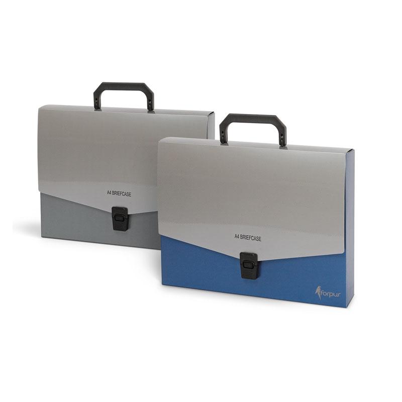 Mape portfelis FORPUS ar rokturi, formāts A4, zila