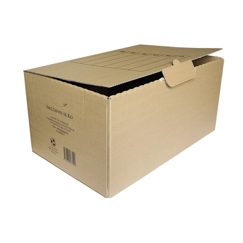 Arhīva kārba SMLT no kartona, 262 x 345 x 530 mm