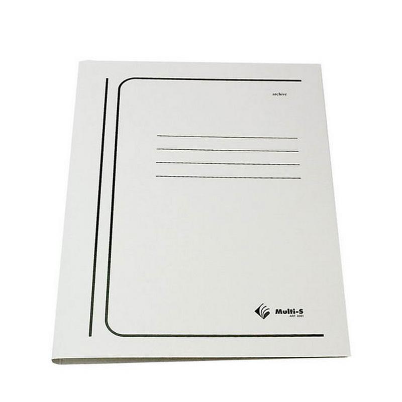 Mape ar ātršūvēju dokumentiem Multi-S kartona, A4, balta (15mm)