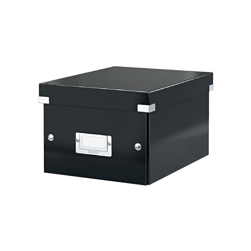 Arhīva kārba saliekama LEITZ CLICK'N'STORE, A5, 216 x 220 x 282 mm, kartona, melna