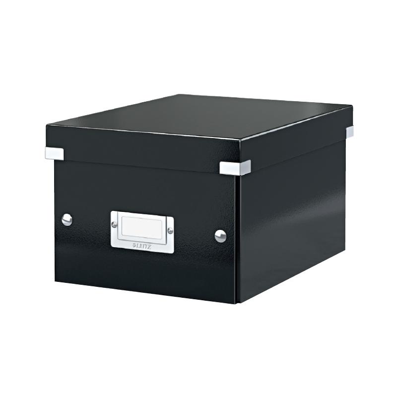 Arhīva kārba saliekama LEITZ CLICK'N'STORE, A4, 200 x 281 x 370 mm, kartona, melna