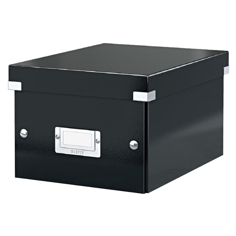 Arhīva kārba saliekama Leitz Snap'n'store, x-large, 285 x 357 x 367 mm, kartona, melna