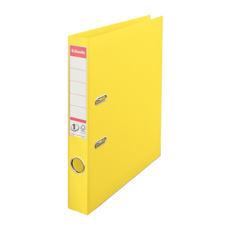 Mape-reģistrs ESSELTE VIVIDA No1 Power PP A4 formāts, 50 mm, dzeltena