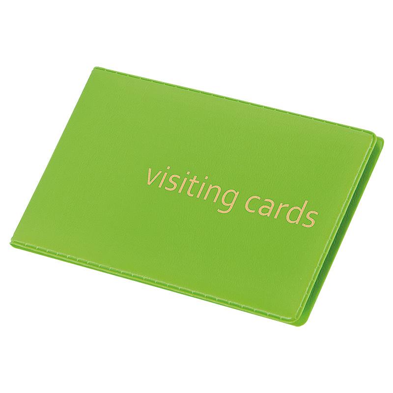 Vizītkaršu bloknots Pantaplast, 24 vizītkartēm, gaiši zaļa krāsā 11.5 cm x 7.3 cm
