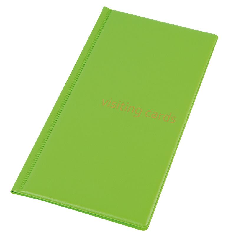 Vizītkaršu bloknots Pantaplast, 96 vizītkartēm, gaiši zaļa krāsā 24.5 cm x 12 cm