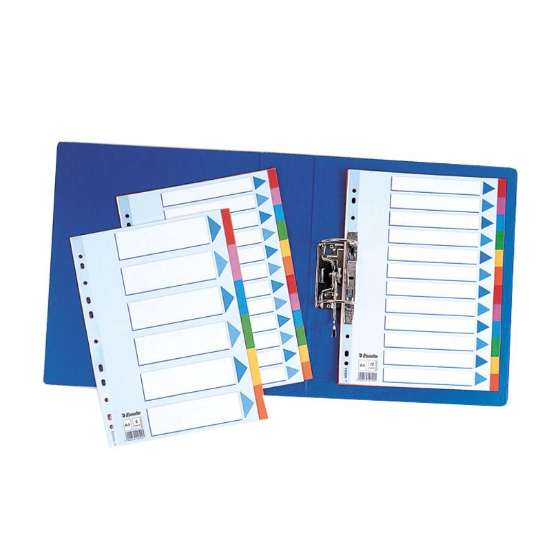 Sadalītājs dokumentiem Esselte, kartona,,A4 formāts, 1-12 krāsains