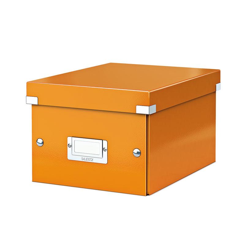 Arhīva kārba LEITZ CLICK'N'STORE WOW, A5, 160 x 220 x 282, oranžā krāsā