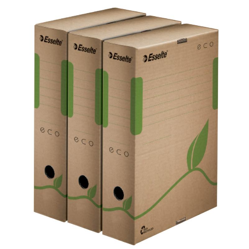 Arhīva kārba ESSELTE, A4 formāts, 80 mm, 327 x 80 x 233 mm, no pārstrādātiem materiāliem
