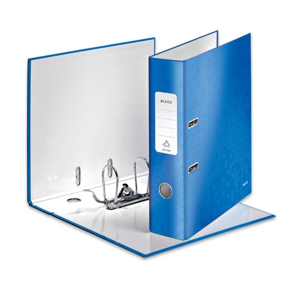 Mape-reģistrs LEITZ WOW 180°, A4, 80mm, gaiši zils..