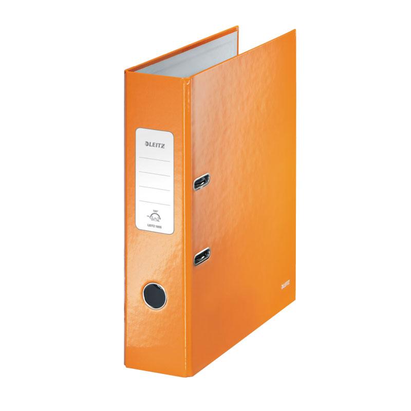 Mape-reģistrs LEITZ WOW 180°, A4, 80mm, oranžā krā..