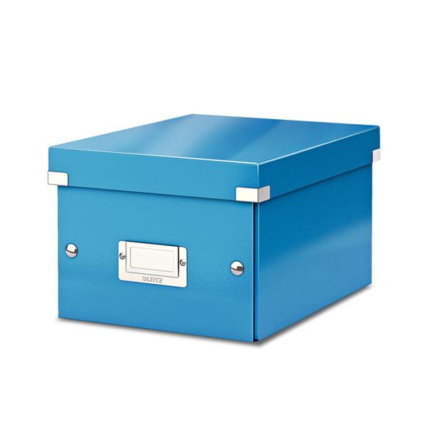 Arhīva kārba LEITZ CLICK'N'STORE WOW, A5, 160 x 220 x 282 mm, gaiši zila krāsa