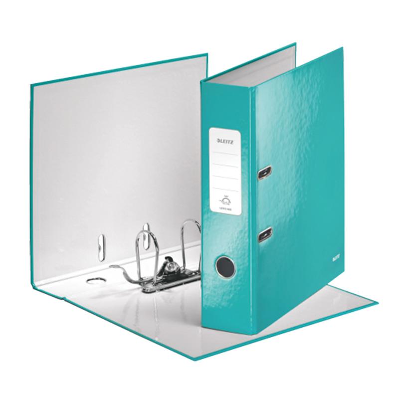 Mape-reģistrs LEITZ WOW 180°, A4, 80mm, Ice blue