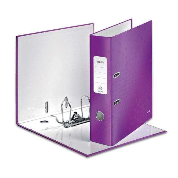 Mape-reģistrs LEITZ WOW 180°, A4, 80mm, violeta kr..
