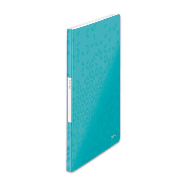 Mape prospektiem Leitz WOW ar 20 kabatiņām, A4 formāts, Ice blue