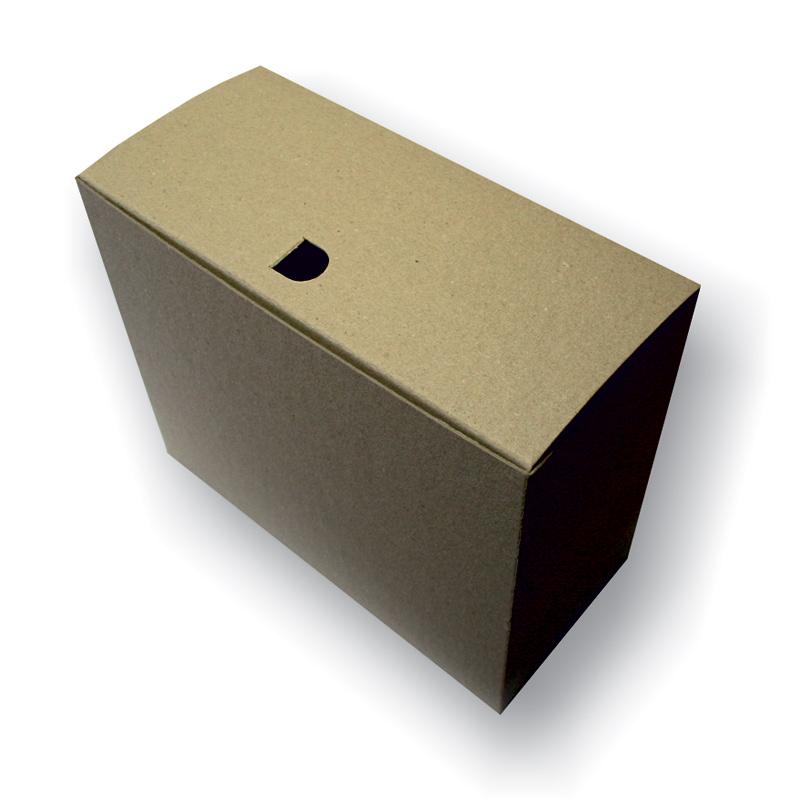 Arhīva kārba SMLT 270 x 155 x 330 mm no kartona, saliekama, brūnā krāsā