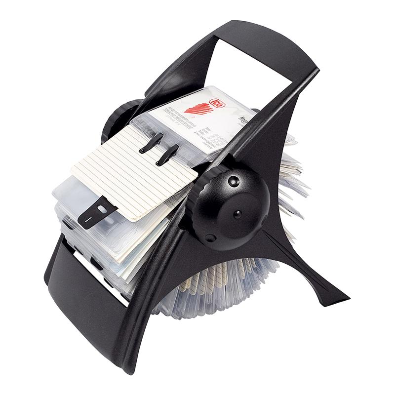 Vizītkaršu turētājs ICO, 400 vizītkartēm, melns
