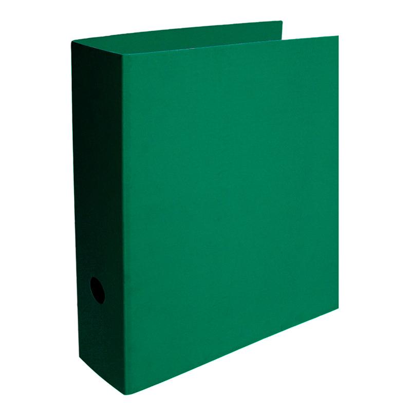 Mape-reģistrs SMLT A4 formāts, 80mm, kartona, zaļā..