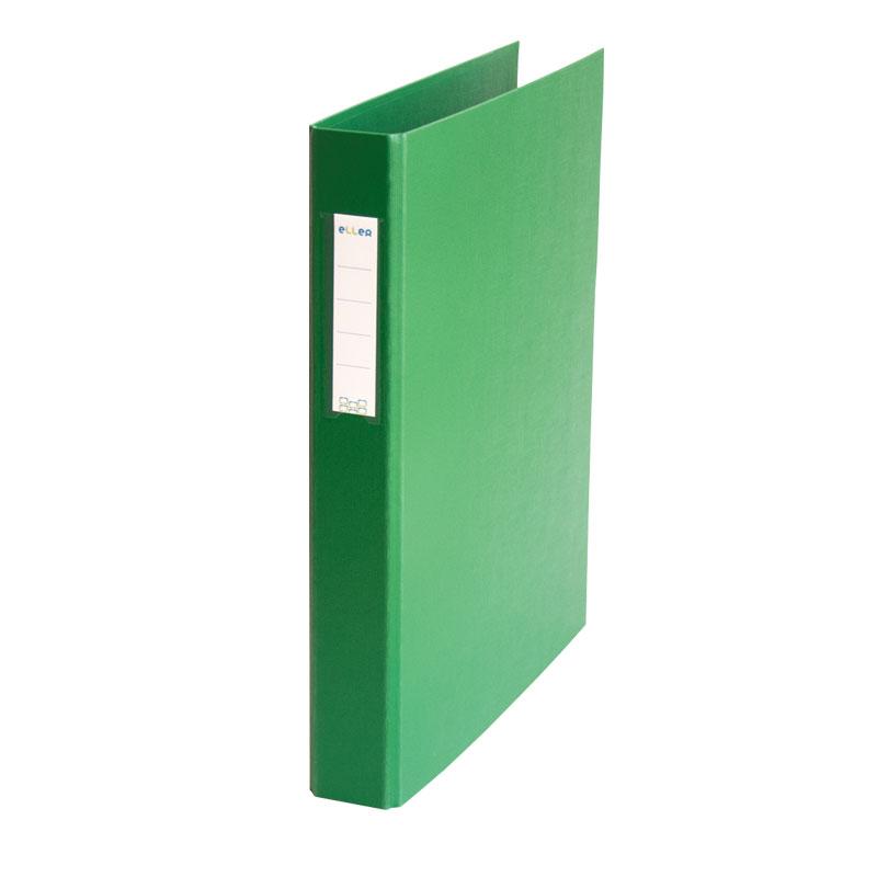 Mape-reģistrs ELLER, A4, platums 35 mm, ar 2 gredzeniem 25 mm, zaļs