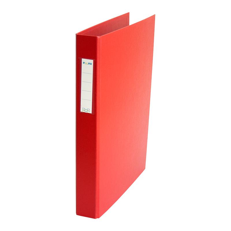 Mape-reģistrs ELLER, A4, platums 35 mm, ar 4 gredzeniem 30 mm, sarkans