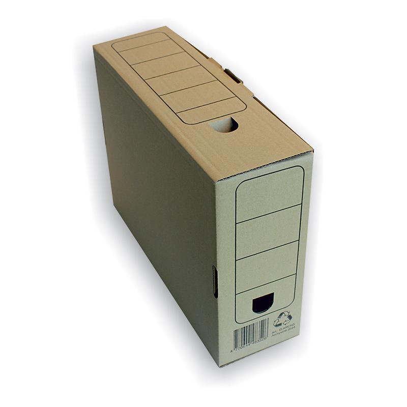 Arhīva kārba 335x250x85 mm, brūna, mikro gofrētais kartons