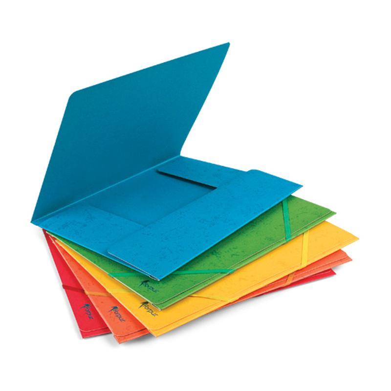 Mape ar gumiju FORPUS no kartona, A4 formāts, zila