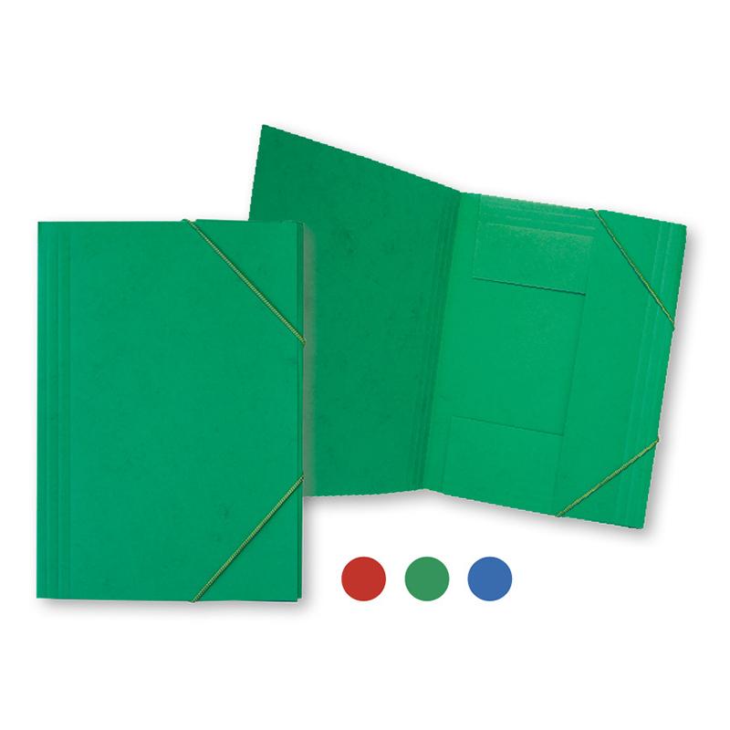 Mape ar gumiju SMILTAINIS no kartona, A4 formāts, zaļa
