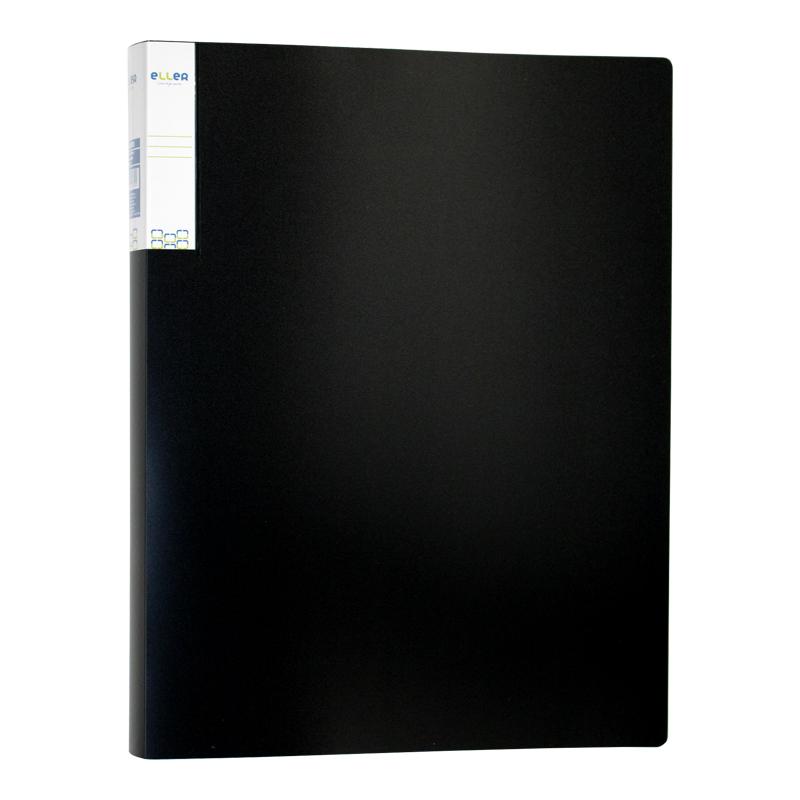 Mape prospektiem ELLER A4 formāts, 20 kabatiņas, melnā krāsā