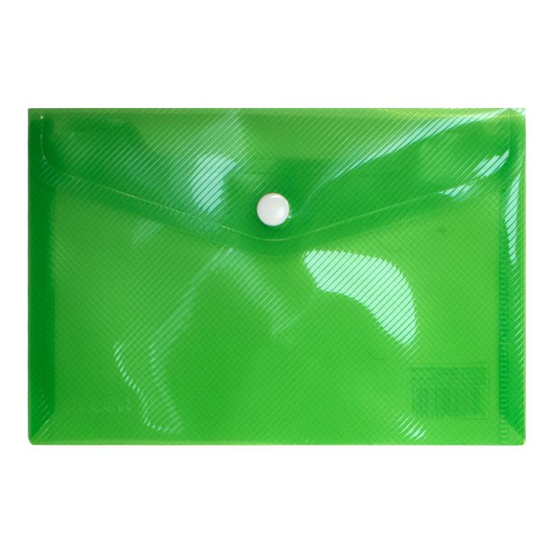 Mape-aploksne ar pogu ELLER PP, A6 formāts, gaiši zaļā krāsa