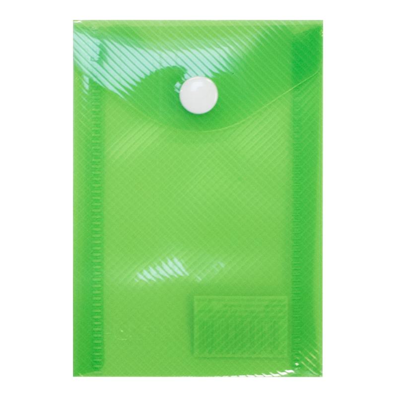 Mape-aploksne ar pogu ELLER PP, A7 formāts, gaiši zaļā krāsa