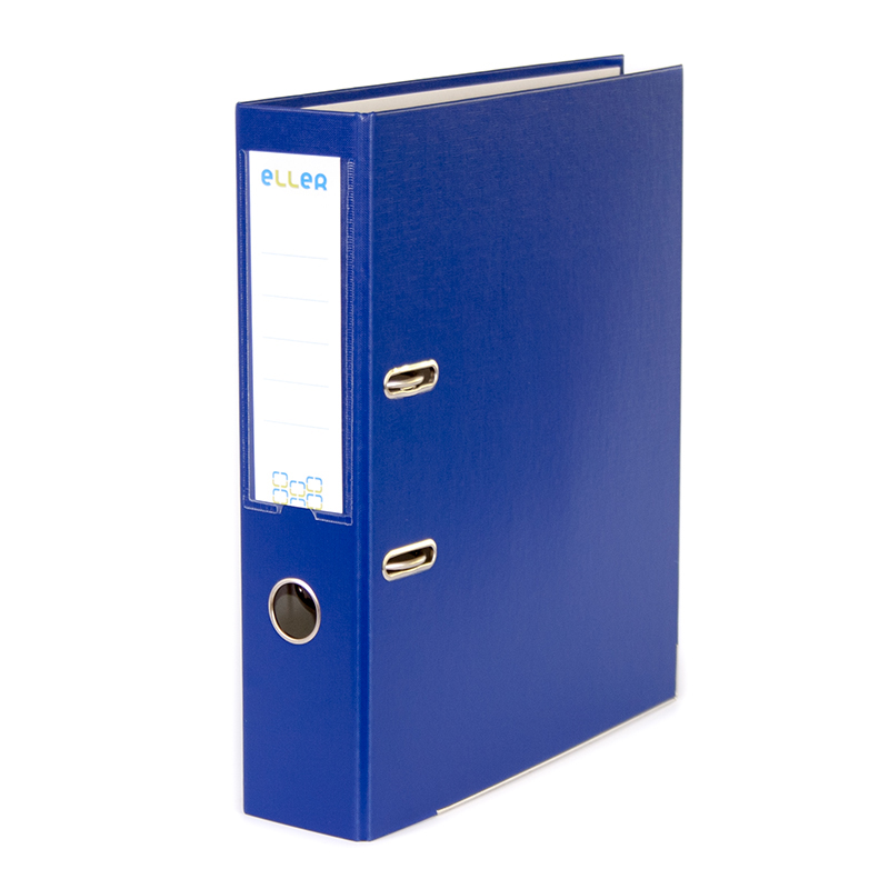 Mape-reģistrs ELLER Eko A4 formāts, 75 mm, tumši zils, apakšējā mala ar metālu