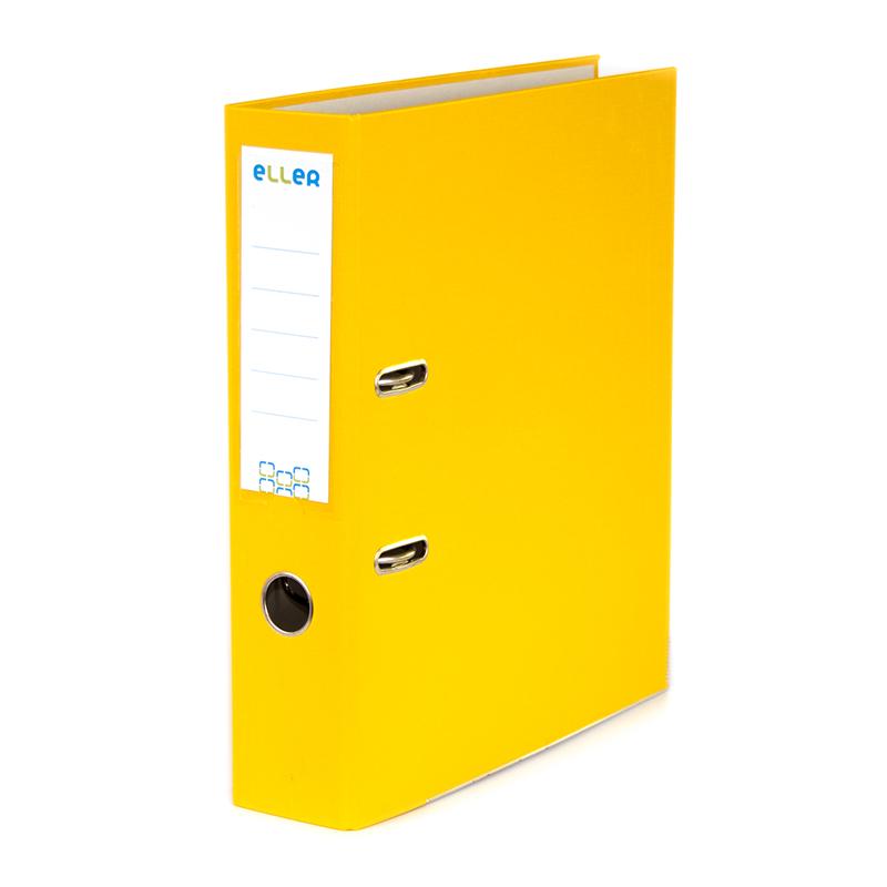 Mape-reģistrs ELLER Eko A4 formāts, 75 mm, dzelten..