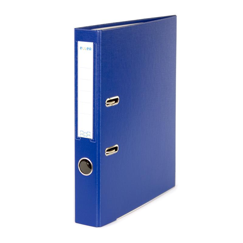 Mape-reģistrs ELLER Eko A4 formāts, 50mm, tumši zils, apakšējā mala ar metālu