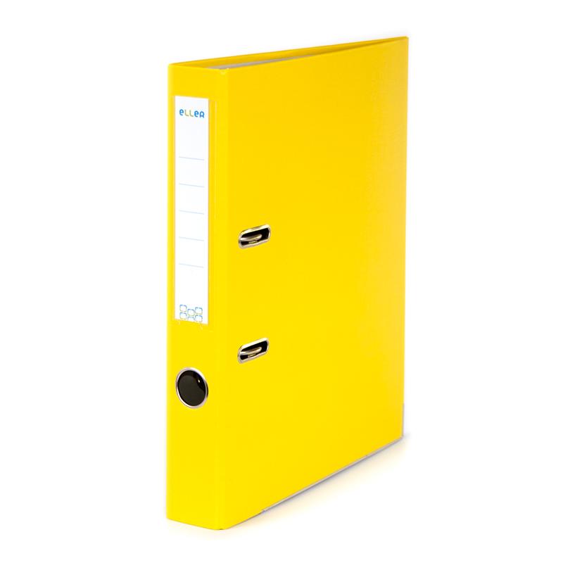 Mape-reģistrs ELLER Eko A4 formāts, 50mm, dzeltena..