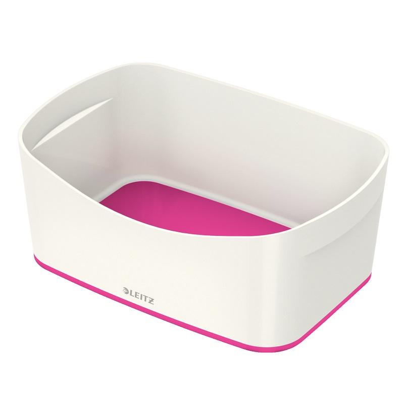 Kaste uzglabāšanai Leitz MyBox bez vāka, balta-rozā krāsa
