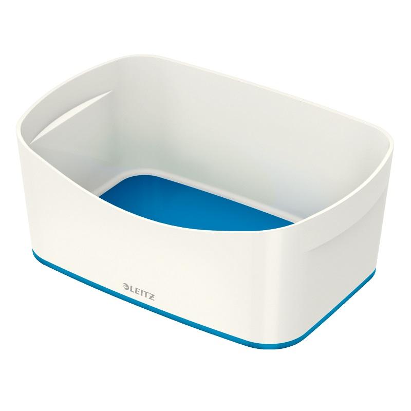 Kaste uzglabāšanai Leitz MyBox bez vāka, balta-zila krāsa