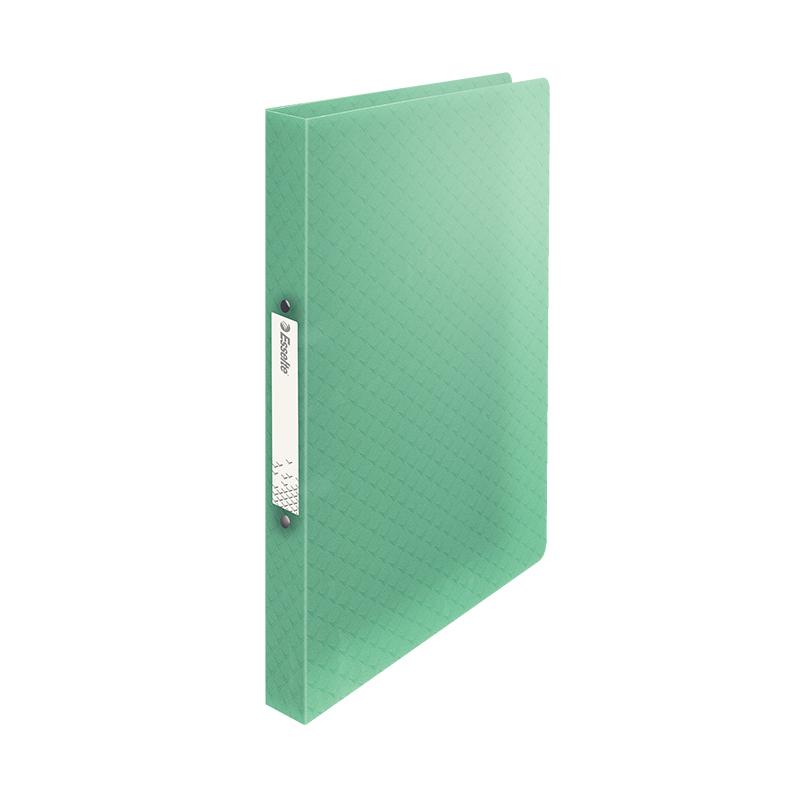 Mape ar 2 gredzeniem ESSELTE Colour'Ice A4 formāts, platums 25mm, PP, zaļā krāsā
