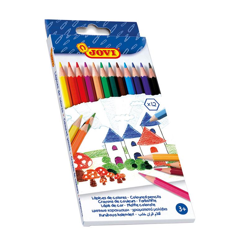 Krāsainie zīmuļi JOVI, 12 krāsas