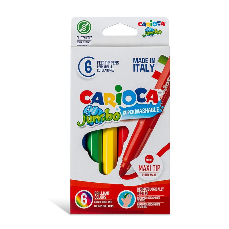 Flomasteri UNIVERSAL JUMBO kartona iepakojums, 6 krāsas