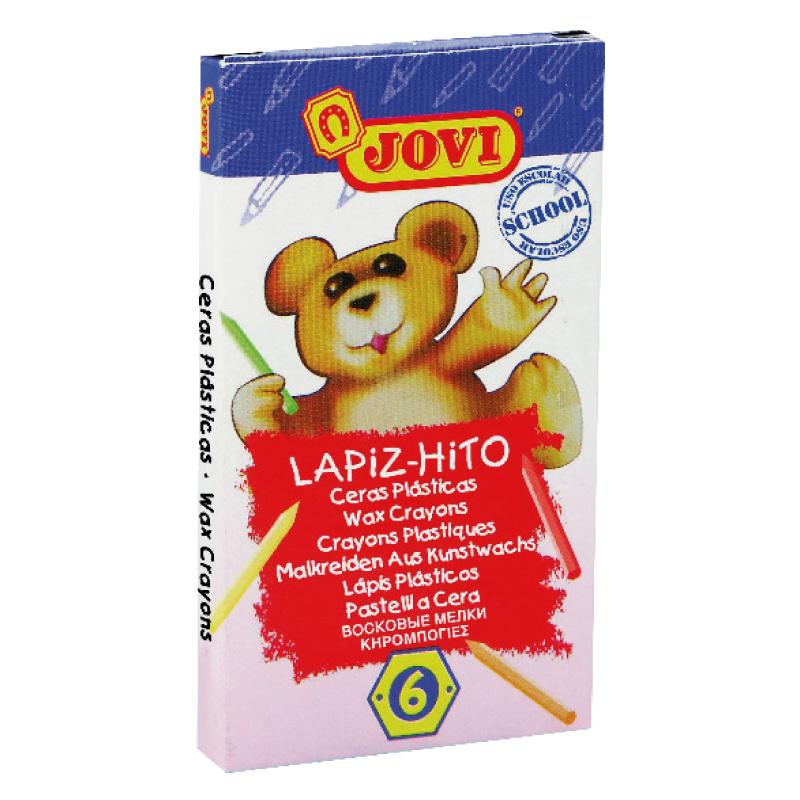 Krāsanie vaska krītiņi JOVI Lapiz-Hito Mini, 6 krāsas