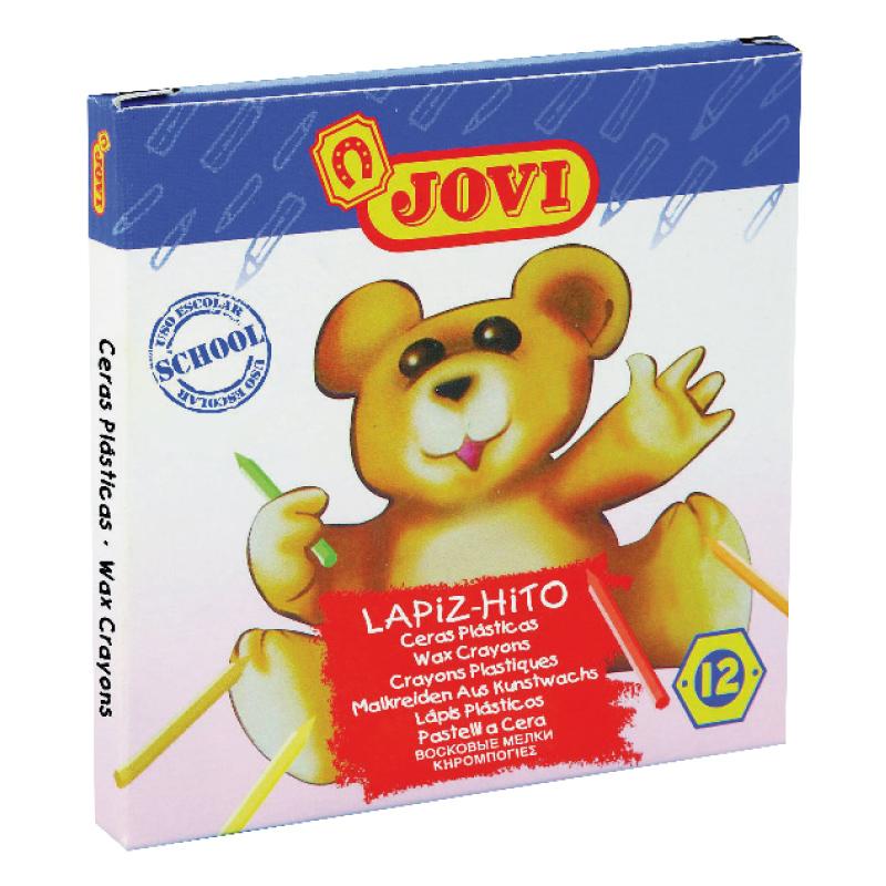 Krāsanie vaska krītiņi JOVI Lapiz-Hito Mini, 12 krāsas