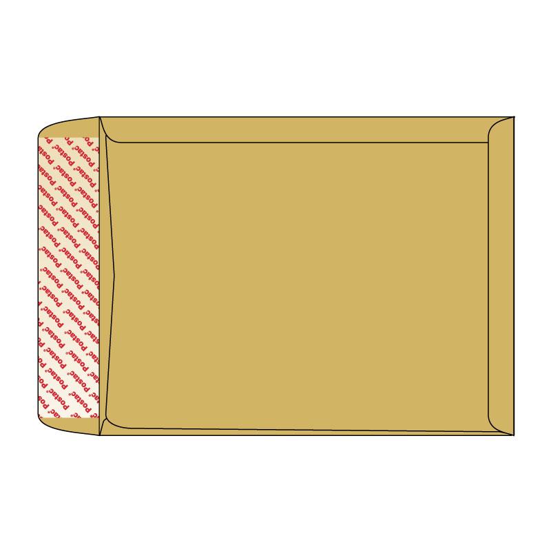 Aploksne Kuvert B4 brūna (ar ielocēm apakšā un sānos) 250x40x353x40, 130g/m2