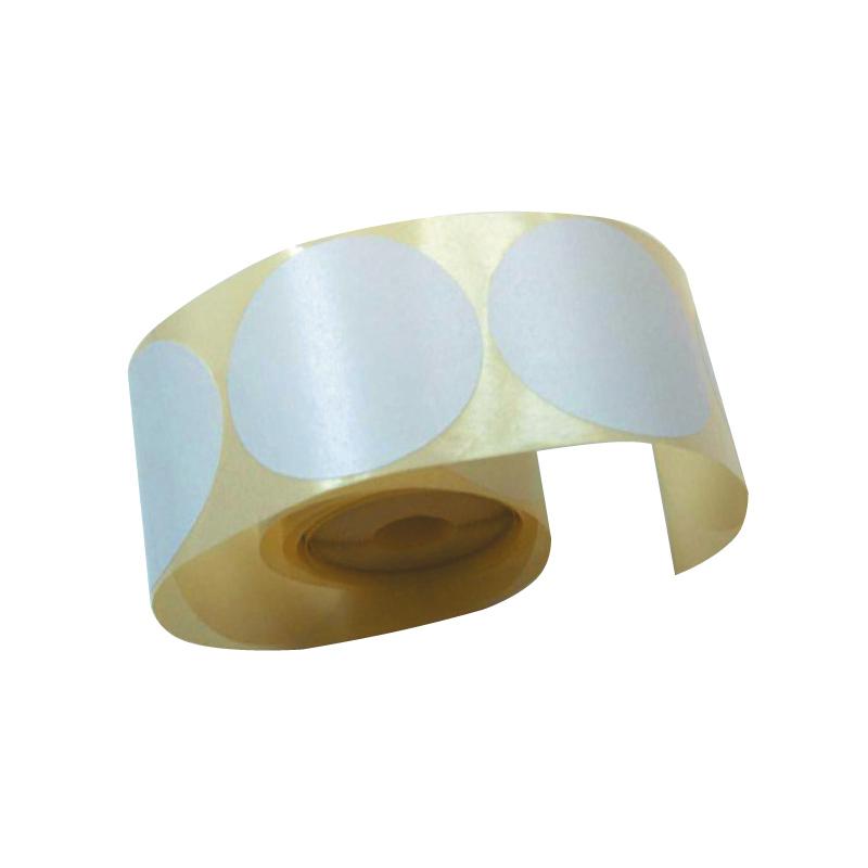 Notāru uzlīmes ar diametru 50mm, apaļas, baltas, 200 uzlīmes/iepakojumā